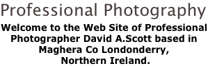 Professional Photography Welcome to the Web Site of Professional Photographer David A.Scott based in Maghera Co Londonderry,  Northern Ireland.